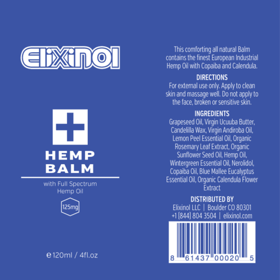 cbd hemp balm label