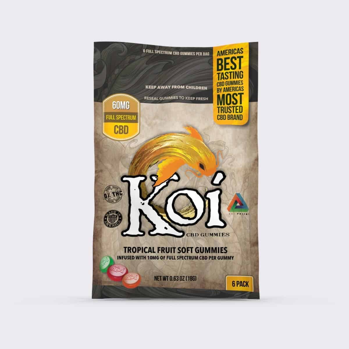 KOI CBD TROPICAL FRUIT SOFT GUMMIES