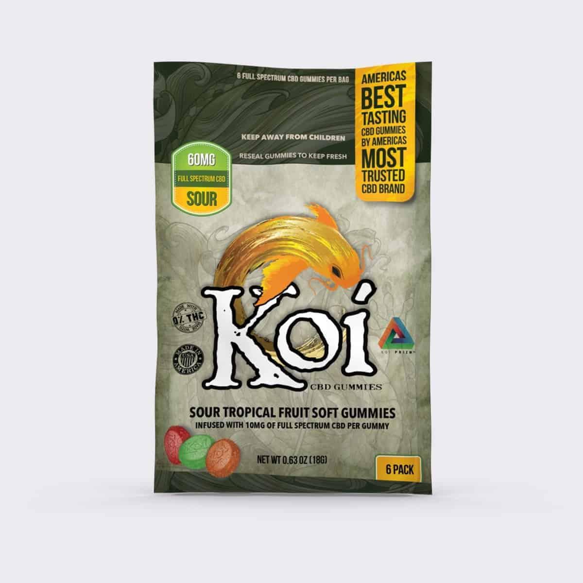 KOI CBD SOUR TROPICAL FRUIT SOFT GUMMIES