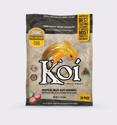 KOI CBD TROPICAL FRUIT SOFT GUMMIES - 20pc
