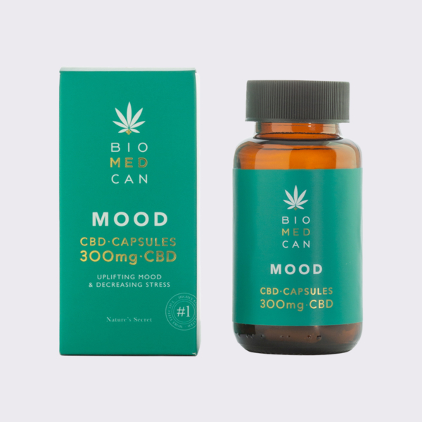 2 biomedcan mood cbd capsules 300mg bottle package front 1000x1000 1