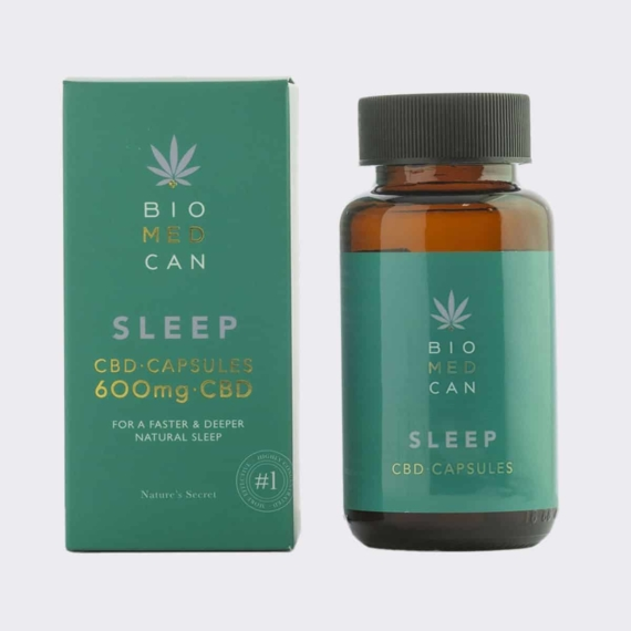 2 biomedcan sleep cbd capsules 600mg bottle package front 1000x1000 1