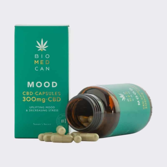 3 biomedcan mood cbd capsules 300mg bottle package front open 1000x1000 1