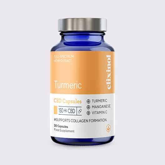 Elixinol Bottle Blended Turmeric