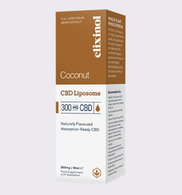 Elixinol Liposome 300 Coconut Box