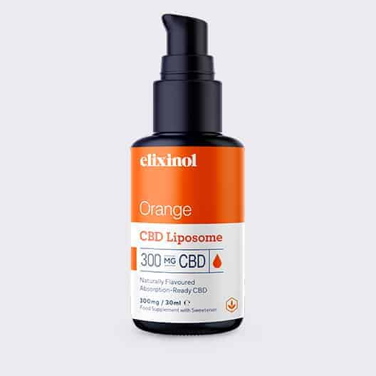 Elixinol Liposome 300 Orange Bottle