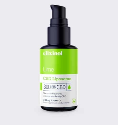 Elixinol Liposome 300 Lime Bottle