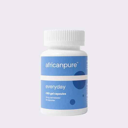 African Pure Everyday CBD Gel Capsules Front No Shadow