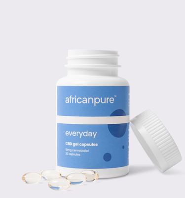 African Pure Everyday CBD Gel Capsules Open