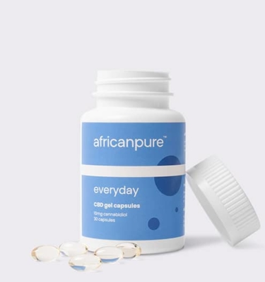 African Pure Everyday CBD Gel Capsules Open