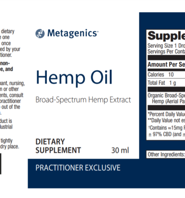 hemp oil Label New
