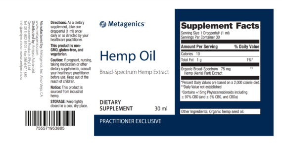 hemp oil Label New