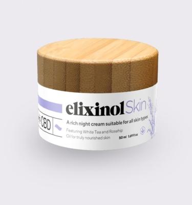 Elixinol Skin Night Cream Jar 1