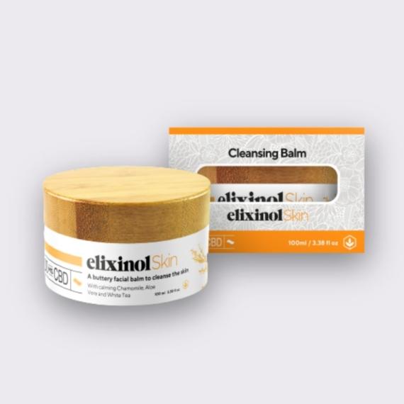 Elixinol Skin cleansing balm box jar