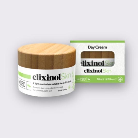 Elixinol Skin day cream box jar