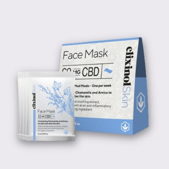 Elixinol Skin face mask box sachets 1