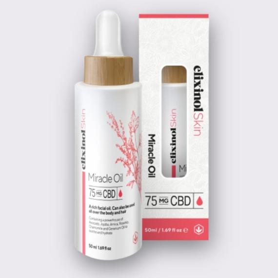 Elixinol Skin miracle oil box bottle 1
