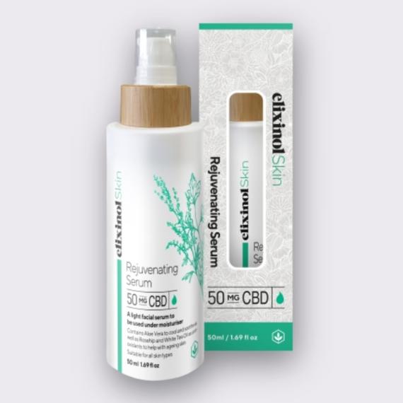 Elixinol Skin rejuvenating serum box bottle
